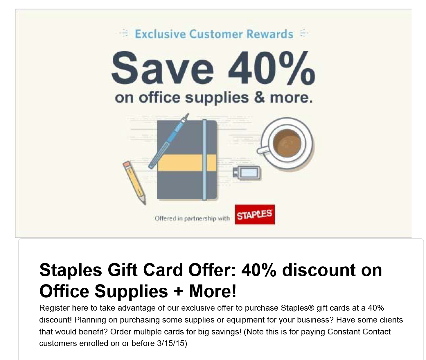 Staples gift card promotion at constant contact country hill casa staples gift card promotion colourmoves